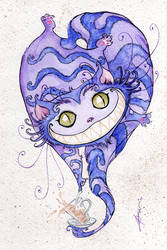 Cheshire Cat Teatime by Tavicat