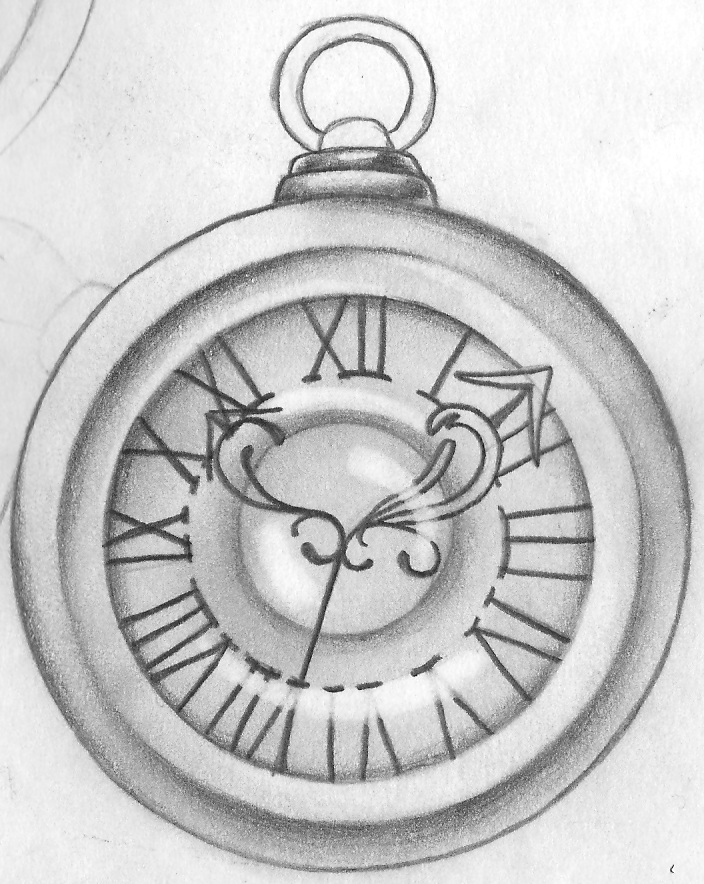 Line Drawing Clock Face : Pocket watch by sgormley on deviantart