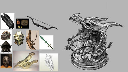 Skyrim sculpt sketch by Maximum993