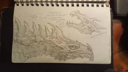 Alduin sketch by Maximum993