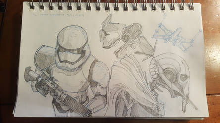 Star Wars sketches by Maximum993