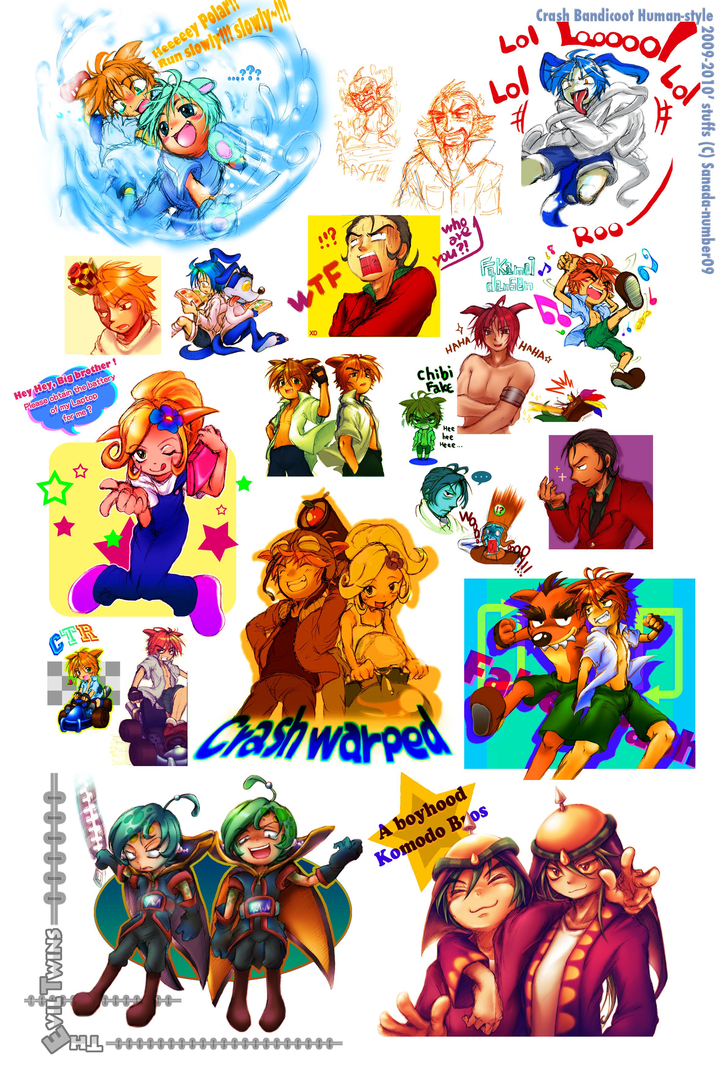 CRB: Crash Human Style 2009-2010' stuffs by sanada-number09