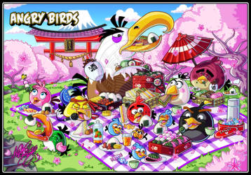 Angry Birds Cherry Blossoms Festival by MariposaBullet