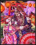 BASARA!! Mulan and Shan Yu by MariposaBullet