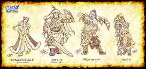 Tengri Character Sketch Dump by MariposaBullet