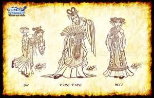 Sketch Dump - Mulan 2 Princesses by MariposaBullet