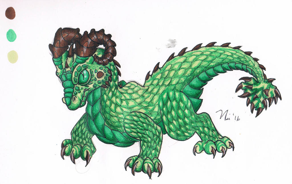 Green Dragon by magefeathers