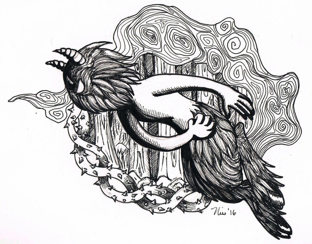 Inktober 2016 Day 1 'Fast' by magefeathers