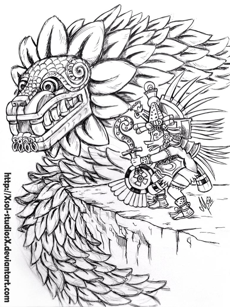 Double quetzalcoatl by XSol-StudiosX on DeviantArt