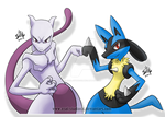 Mewtwo and Lucario BROS!!