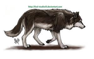 Walking Wolf by XSol-StudiosX