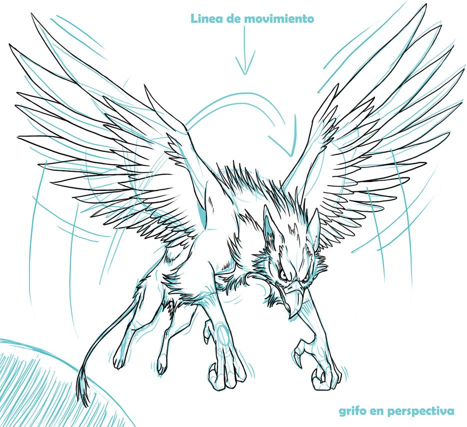 Grifo en perspectiva by xsol studiosx on deviantart for Grifo dibujo