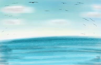 Ocean View | Background from Art Request. by NatCanDo