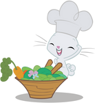Chef Angel Bunny at your service!