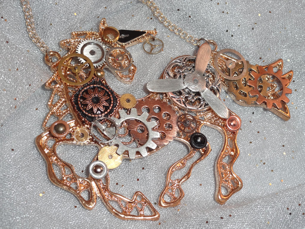 Steampunk Unicorn Pendant by Devaly