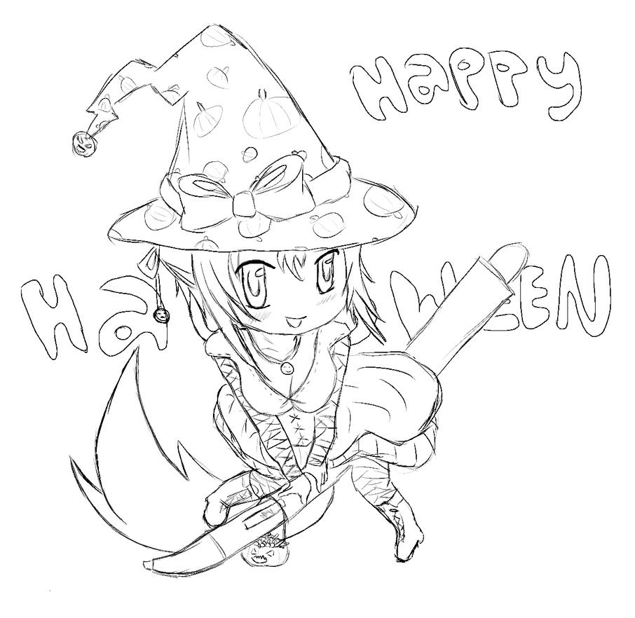 Chibi Scarlet Witch Coloring Page Coloring Pages