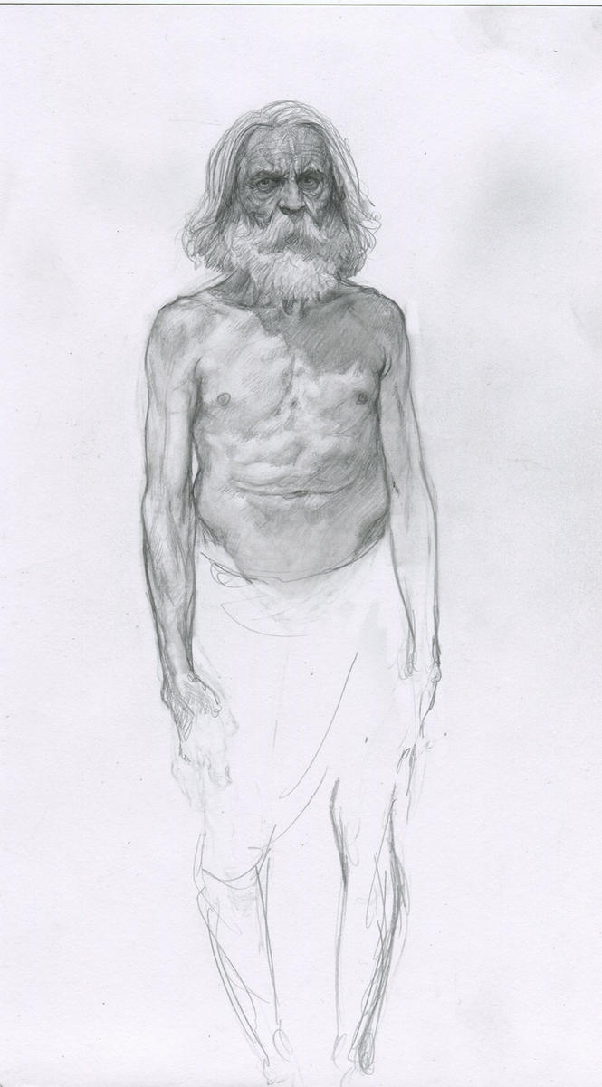 Sketch of an old dude (anatomy study) by PaulMellender on DeviantArt
