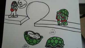 tmnt and mario funny