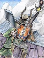 Link vs Bellumbeck by yurionna