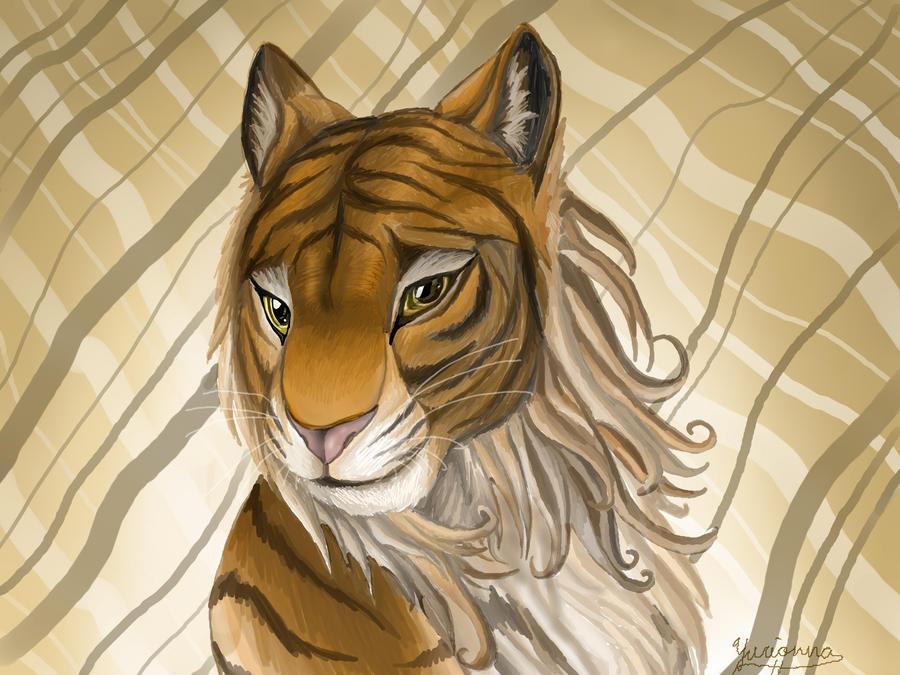 Anthro white tigress - photo#13