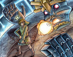 Link vs Gohdan by yurionna