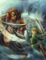 Link vs Ganondorf by yurionna