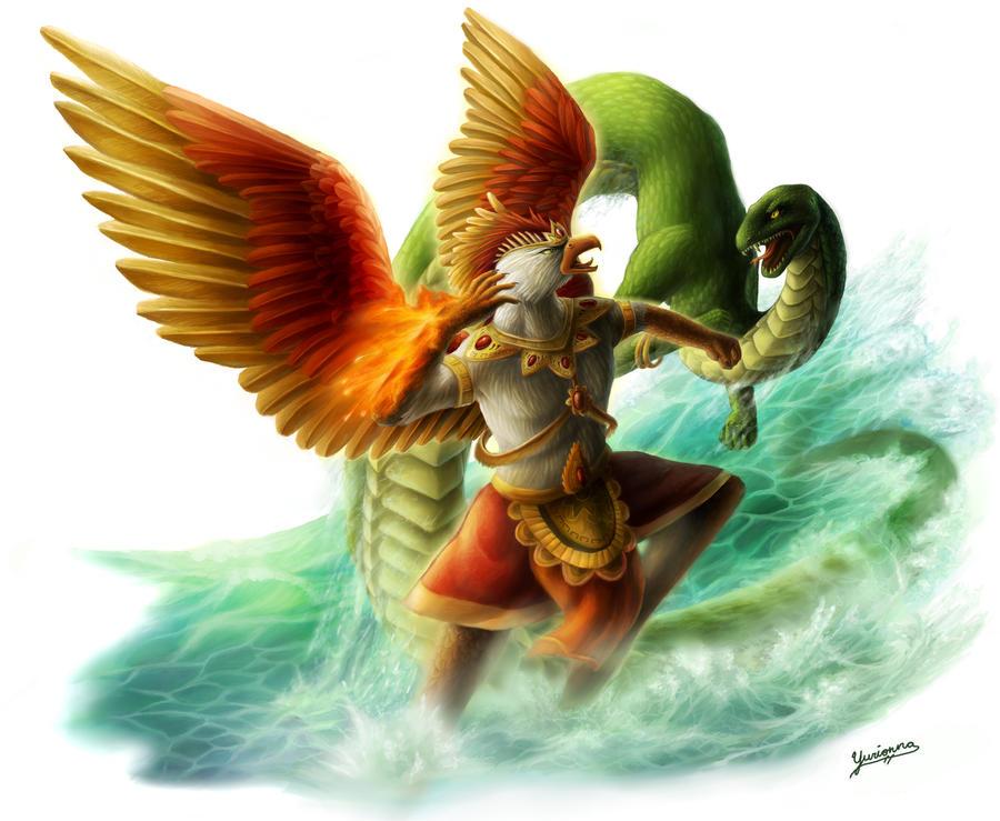 Garuda And Naga By Yurionna On DeviantArt