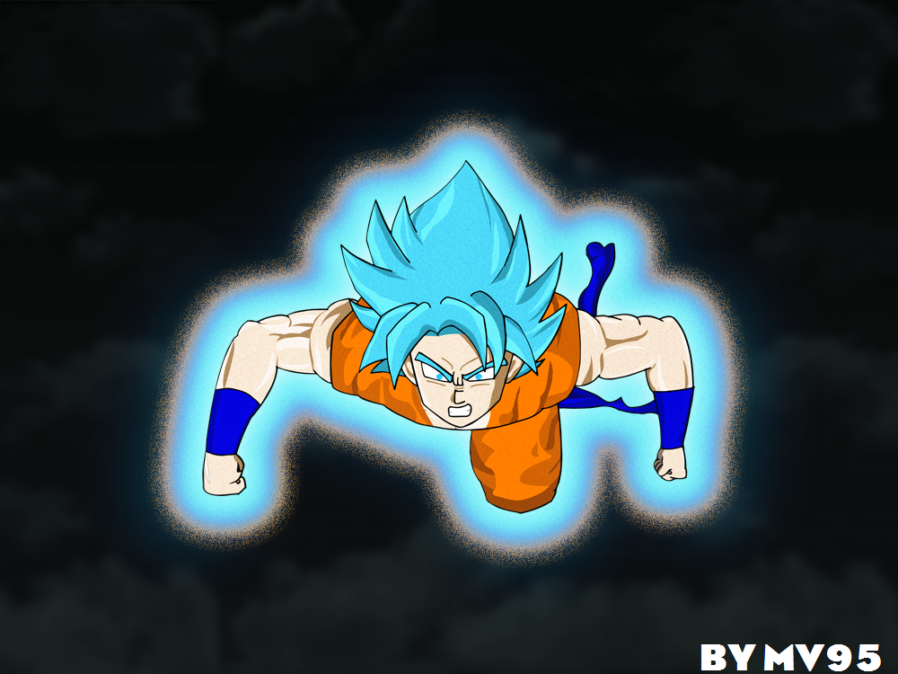 Goku Super Saiyan Blue Fury by MV95
