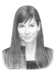 A Portrait of Sandra Bullock by SikoTiko