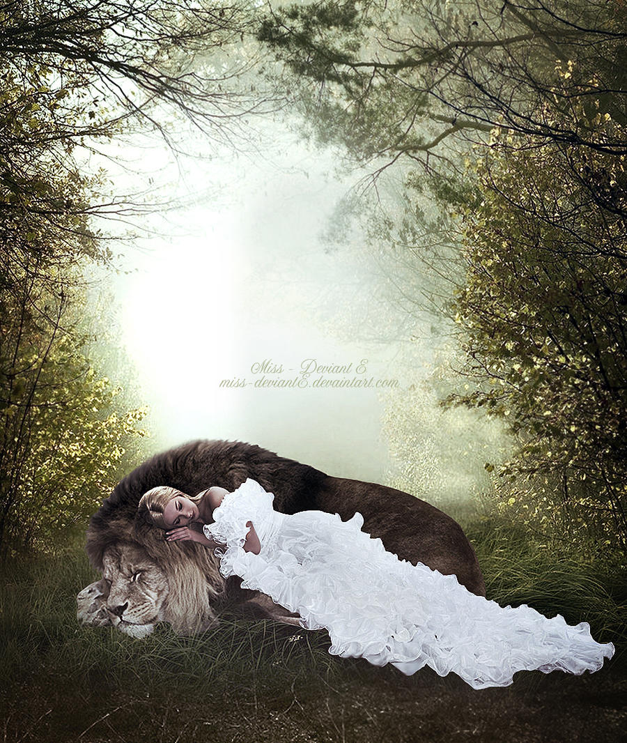 The lion and the lamb by Miss-deviantE