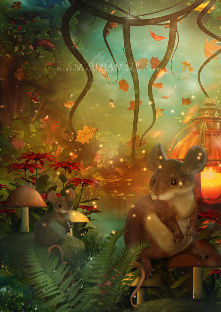 Woodland Mice by Miss-deviantE