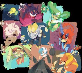 10 minutes each, random pokemons by shayxy