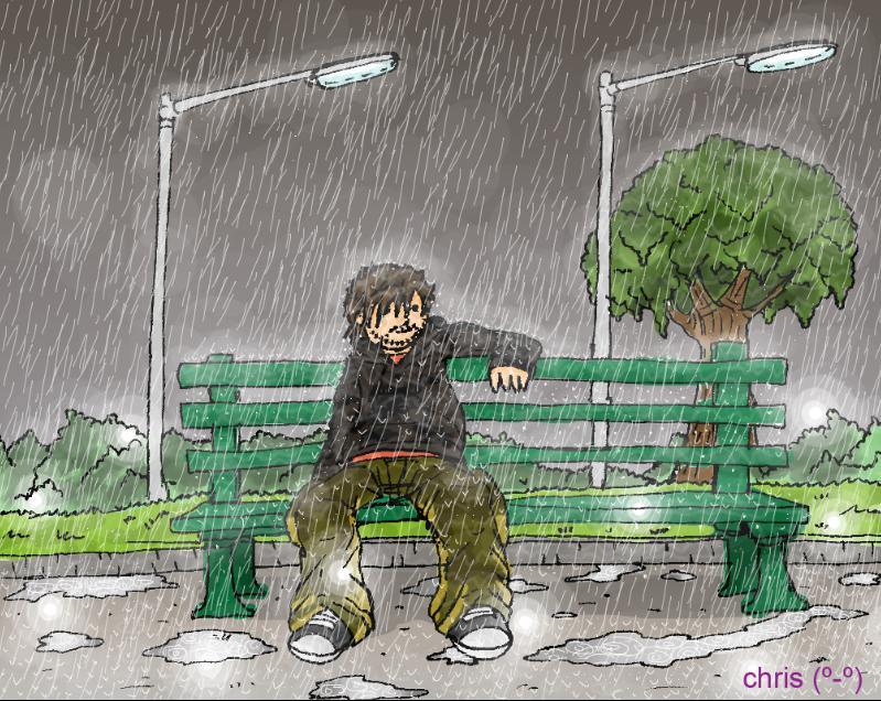 bajo la lluvia by ganando-enemigos