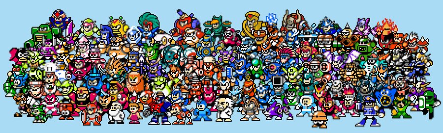 All Megaman characters by ganando-enemigos
