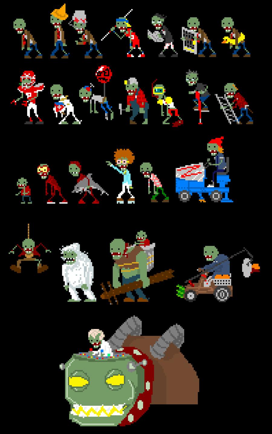Plants Vs Zombies By Ganando Enemigos On Deviantart