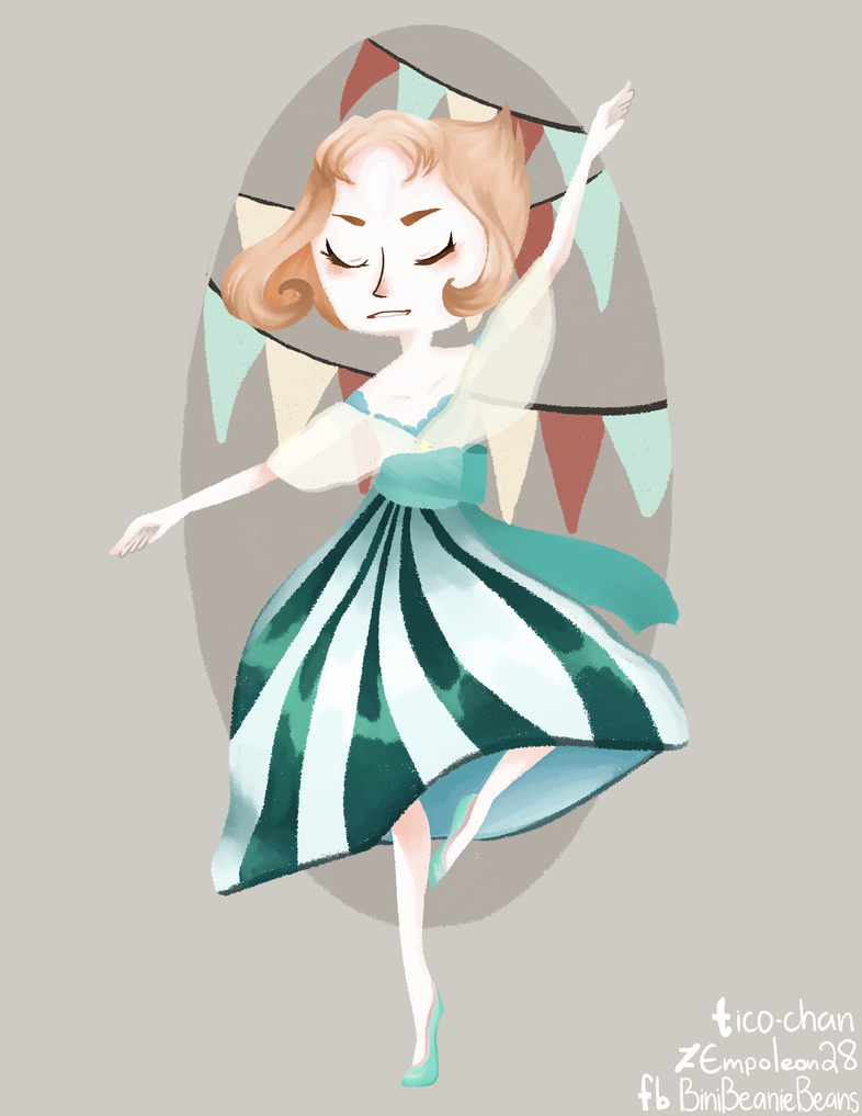 "Pearl + Philippines crossover! The Philippines is also known as the ""Pearl of the orient""  Pearl from steven universe fan art! Drawn with paint tool sai. tumblr: ico-chan deviantART: Empoleon2..."