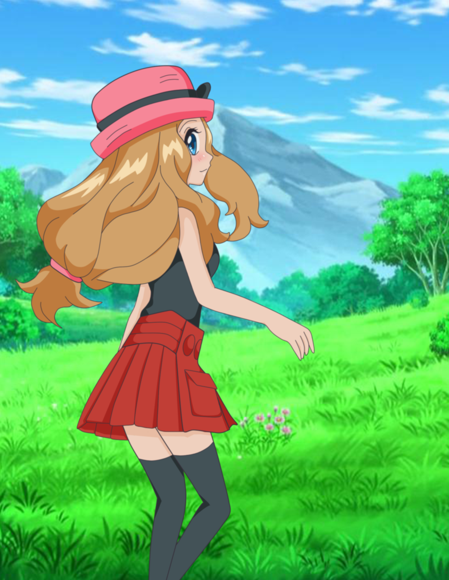 Happy Serena (Pink Outfit Ver. ) by Jamesvelectric on