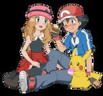 AmourShipping - Satoshi and Serena Poffles