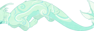 water cat animal thing by peach-water