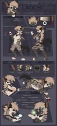[Sheet] Laochi the Striped Hyena by FossilExMachina