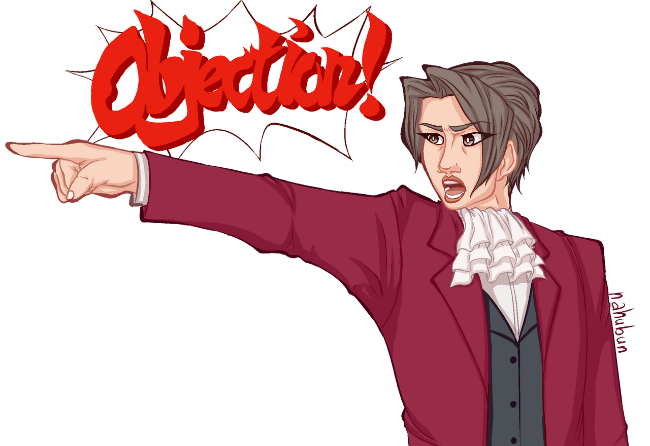 Objection Miles Edgeworth By Nahubun On Deviantart