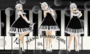 [DL-Haku Yowane, the piano girl]