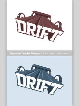 TheDrift logo - 100% Pen tool and 100% Photoshop