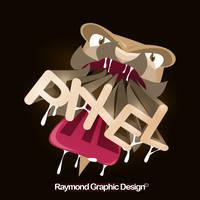 Pixel Dragon! 100% Pen tool! by RaymondGD