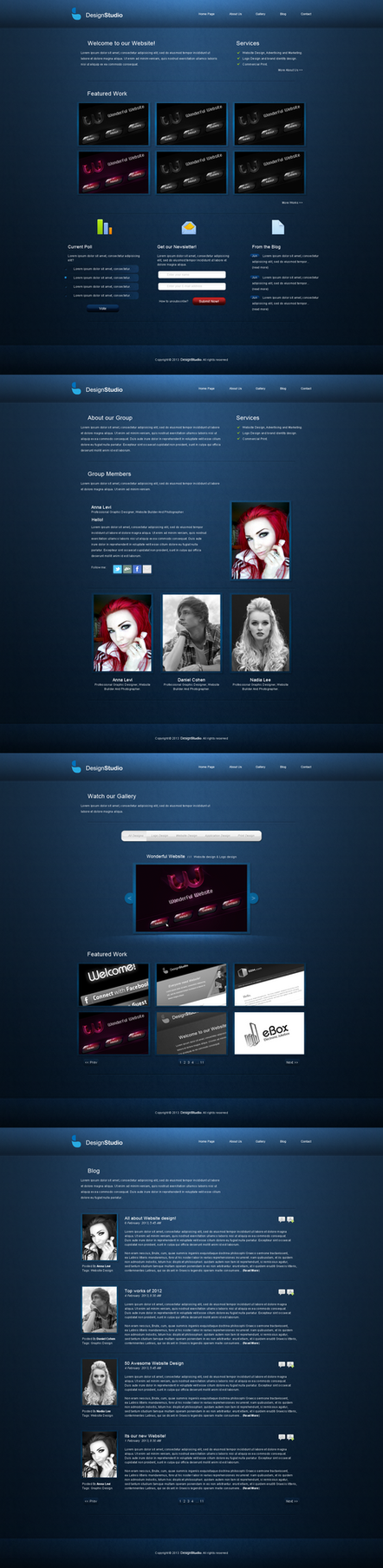 DesignStudio Website by RaymondGD