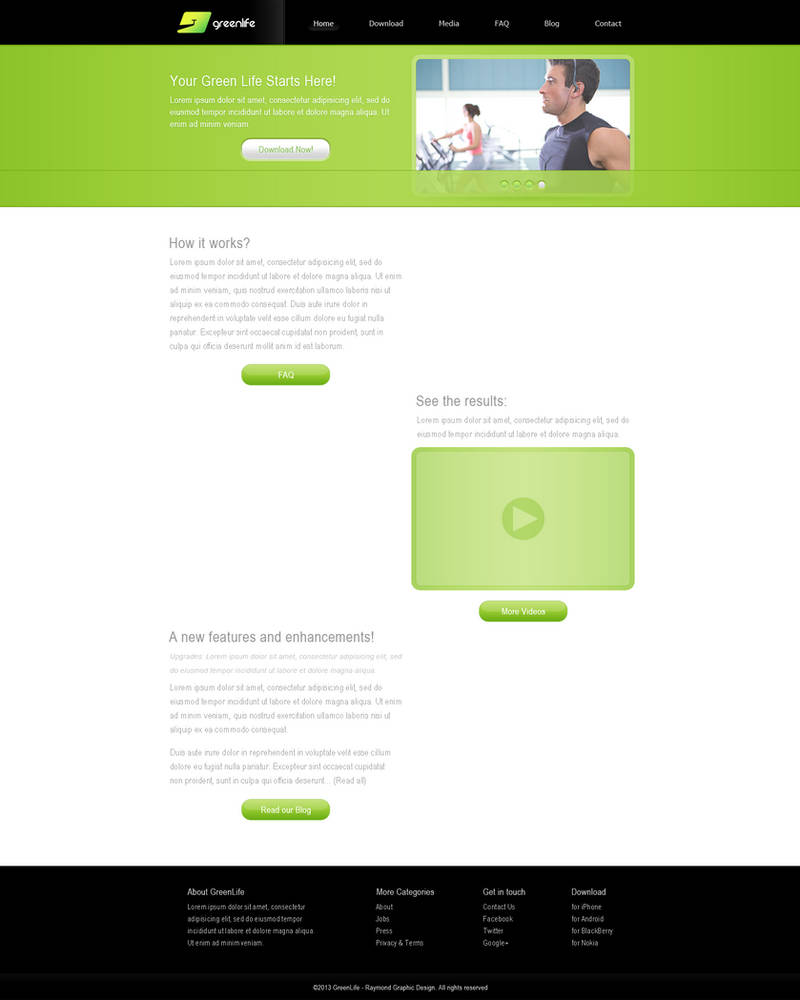 GreenLife Website (Home Page)