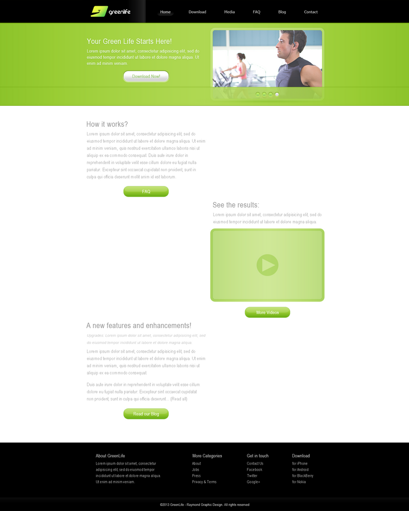 GreenLife Website (Home Page) by RaymondGD