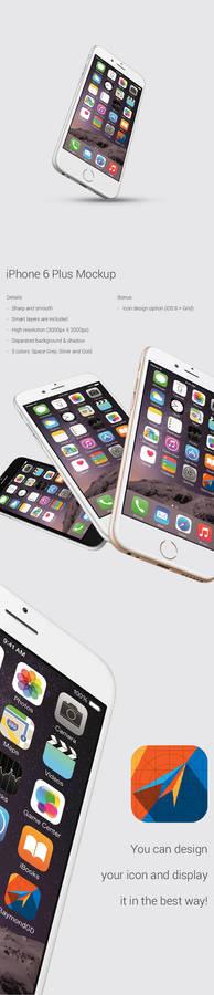 iPhone 6 Plus - Mockup (Free PSD Download)