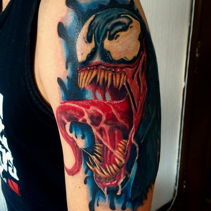Venom tattoo by ddiegho on deviantart for Marvel comics tattoos