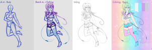 Mishihime's Art Process 2014 (Tutorial)